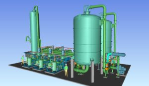 3D model of a VRU Vapour Recovery unit Petrochemical and oil