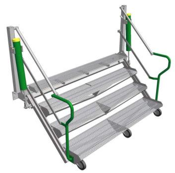 Folding Stairs gantry safe working environment